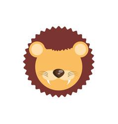 head cute lion animal image vector image