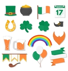March 17 Saint Patricks Day elements set vector image vector image