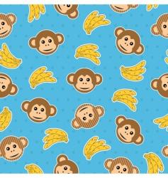 monkey wallpaper pattern vector image vector image