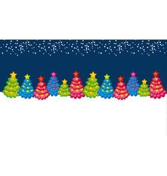 Xmas holiday header with cute Christmas tree vector image vector image