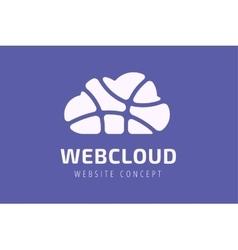 Abstract net cloud logo vector