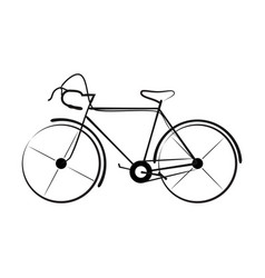 ancient bicycle 0006 vector image