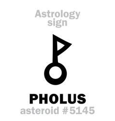 Astrology asteroid pholus vector