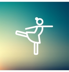 Ballet dancing thin line icon vector image