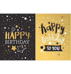Beautiful birthday invitation card design gold and vector