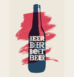 Beer typographical vintage style grunge poster vector