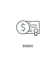 Bonds concept line icon simple element vector