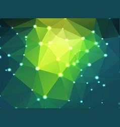 Bright yellow green geometric background with vector