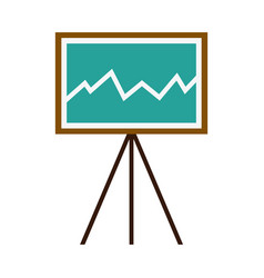 business growing chart presentation financial vector image vector image