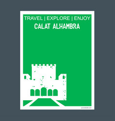 calat alhambra andalusia spain monument landmark vector image