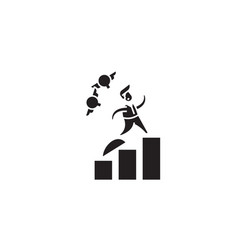Career growth black concept icon caree vector