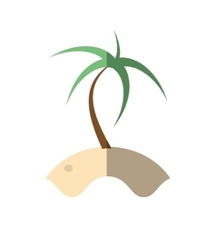 Cartoon palm sand tropical beach shadow vector