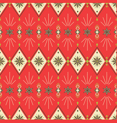 christmas new year geometric festive seamless vector image