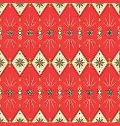christmas new year geometric festive seamless vector image