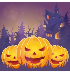 Creepy dark Halloween invitation card vector image
