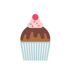 Cupcake color vector