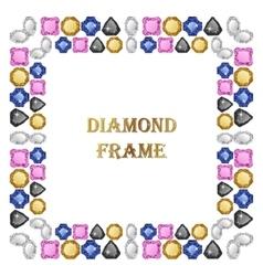 Diamonds square frame vector