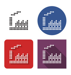 dotted icon plant in four variants with short vector image