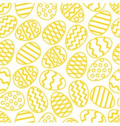 Easter eggs green seamless pattern vector