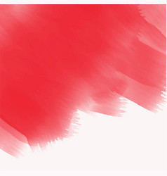 elegant red watercolor brush stroke texture vector image
