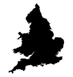 england map outline black silhouette vector image