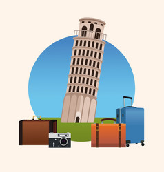 Europe travel concept vector