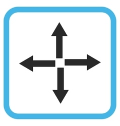Expand arrows icon in a frame vector