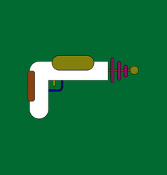 Flat icon design collection toy gun vector