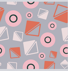 geometric triangle and circle shapes vector image