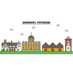 germany potsdam city skyline architecture vector image