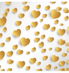 gold hearts background vector image