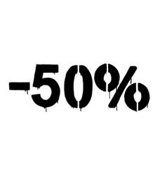 Graffiti discount made stencil -50 percent vector