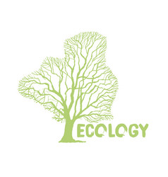 green tree crown logotype for eco natural projects vector image
