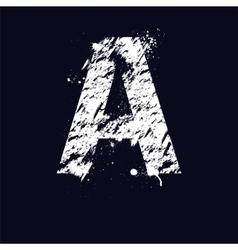 Grunge letter A vector