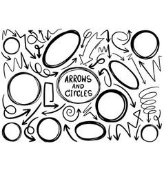 Hand drawn doodle design circles elements vector