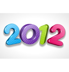 happy new year 2012 3d message sign vector image