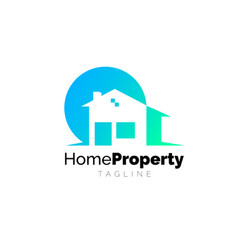 home property company identity vector image