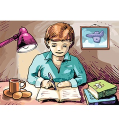 Homework vector image