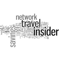 insider travel savings vector image