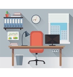 Interior office workplace vector image