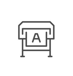 large format printing line icon vector image