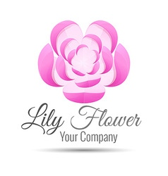Logo stylized flower lily logo design Template vector image