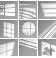 long shadows from window monochrome overlay vector image