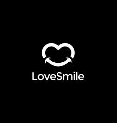 love smile logo design concept vector image