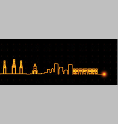 malaga light streak skyline vector image