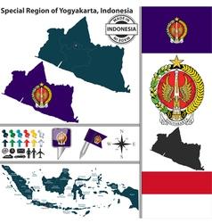 map yogyakarta vector image