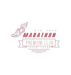 Marathon Premium Club Red Label Design vector image