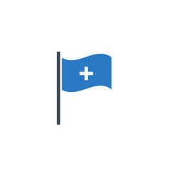 medical flag related glyph icon vector image