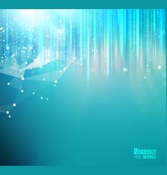 mesh blue lights background vector image