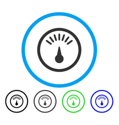 meter rounded icon vector image